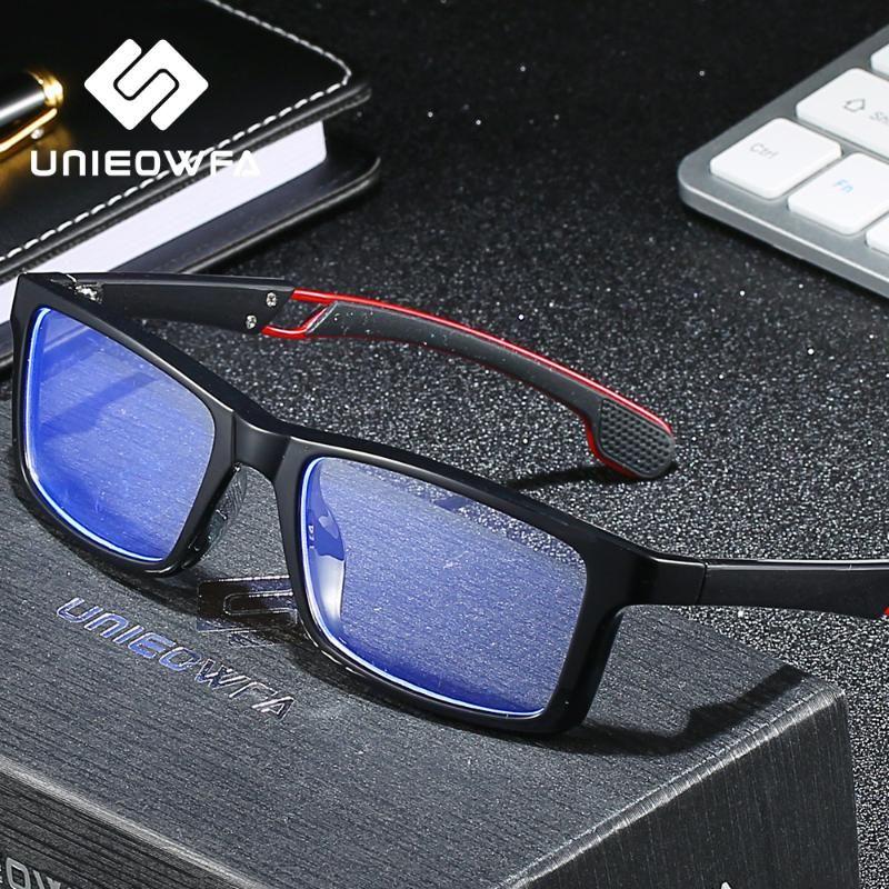 Anti Blue Light Blocking occhiali computer Uomini TR90 Sport Occhiali anti Blu Ray Gaming Eyewear radioprotezione Occhiali