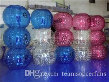 New Safty Proteção Ambiental 0,8 milímetros 1,0 PVC 1.55m 1.8 Air Bumper durável TPU azul inflável de futebol Bola transparente Futebol bolha