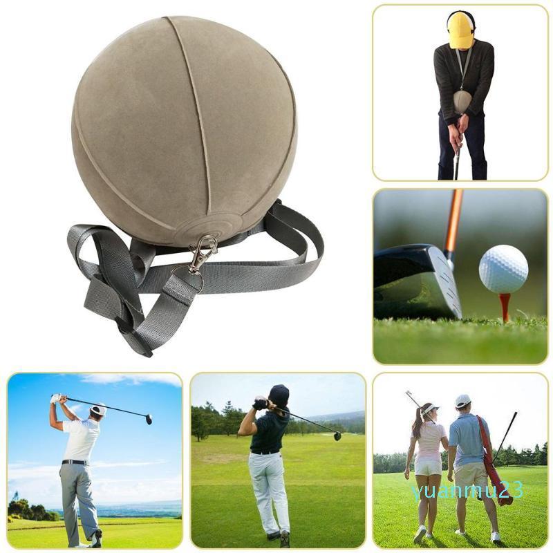Al por mayor-Grey Golf Inteligente Bola inflable swing de golf ayuda del amaestrador del Assist postura Suministros Formación Corrección ayudas de entrenamiento de accesorios