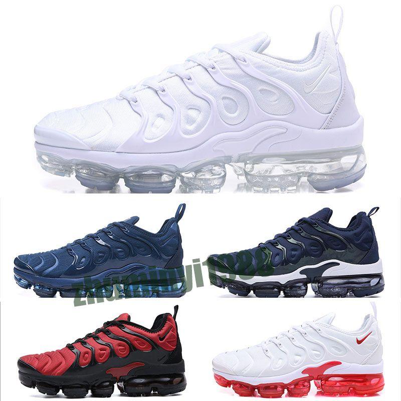 Nike Air Vapormax plus TN 2019 Artı Tn Gökkuşağı Ayakkabı Bumblebee Gerçek Üzüm Üçlü Siyah Ayakkabı Bayan Şerbeti Takım Kırmızı Chaussures Siyah Beyaz Sneakers Z34 Be mens
