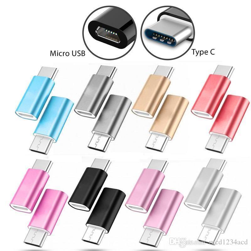 Universal Micro-Weibliche zum Typ C-Stecker-Adapter-Anschluss für Samsung Galaxy S8 S9 plus Note 8 9 HTC
