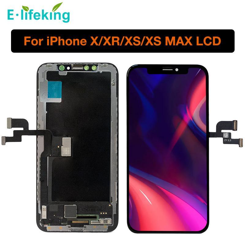 """% 100 IPhone X 5.8"""" için test edilmiştir iPhone X XS XR XS MAX LCD Ekran Dokunmatik Ekran Sayısallaştırıcı Meclisi OEM Yedek TFT İçin AMOLED Ekran"""