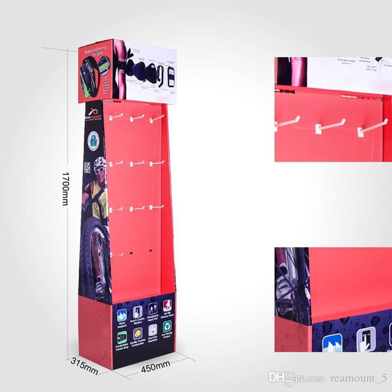 Heißer Verkauf Personalisierte Vitrine für moderne elektronische Produkte Recycling-Karton Ausstellungsregal für Telefon Zubehör Ladekabel