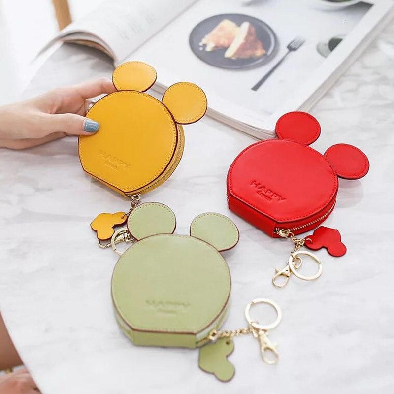 Yeni moda tasarım kızlar Ladie için kadın cüzdanlar küçük sevimli karikatür kawaii kart sahibinin anahtarlık para torbaları cüzdanlar