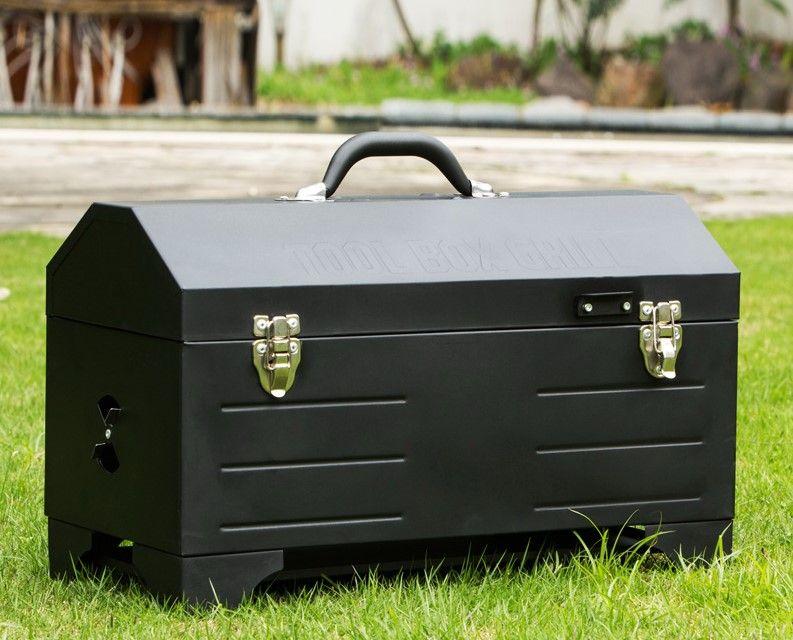 Portable carbone veicolo Barbecue montato all'aperto stufa barbecue box barbecue strumento barbecue picnic 105