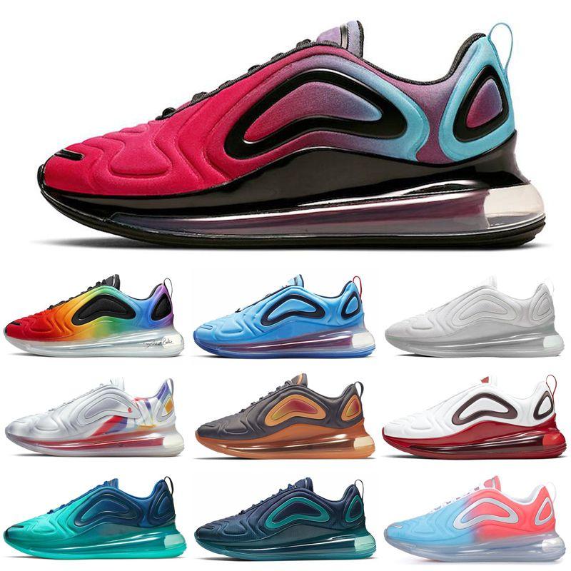 Nike Air Max 720 Tie-Dye BETRUE Femmes Hommes Chaussures de course Fierté Noir Speckle Obsidian Neon Volt Hommes Formateurs Marche Jogging Sport Baskets 36-45