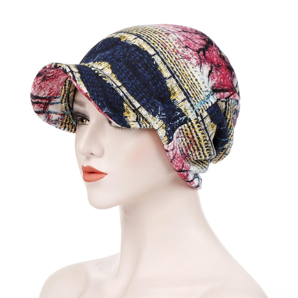 Sıcak pamuk büyük Tuval kazak kenarı çift amaçlı kazak şapka saç maruz başörtüsü şapka tuvaline
