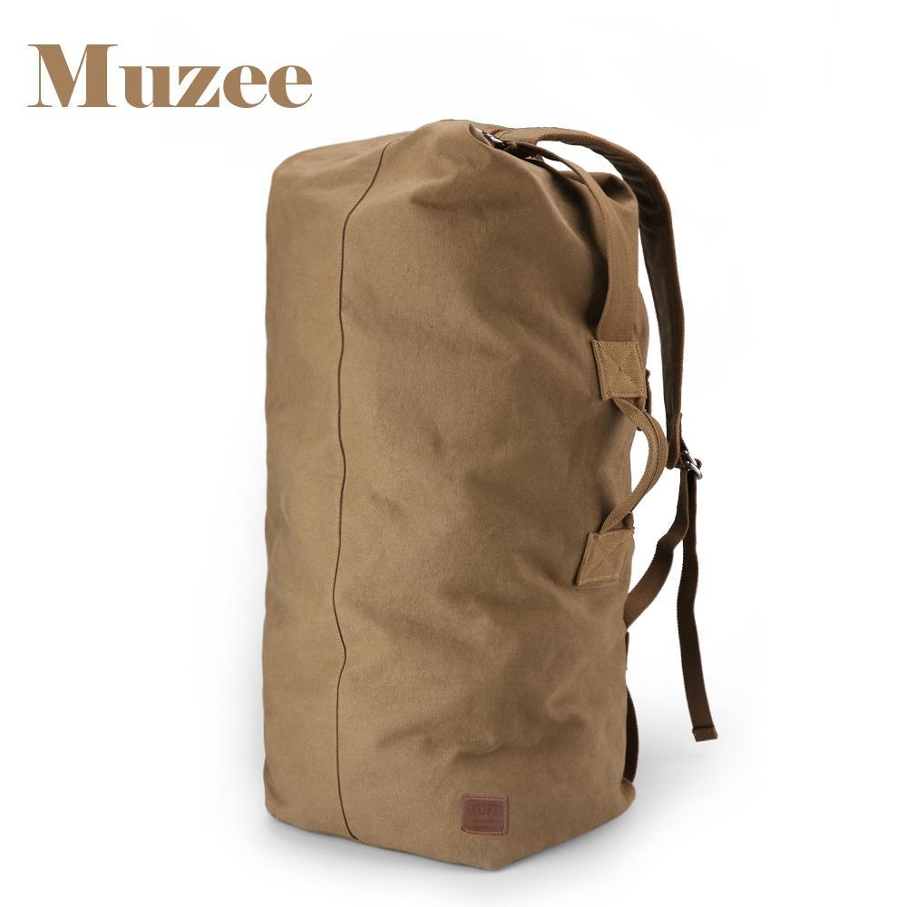 Muzee Huge Travel Bag Large Capacity Men Backpack Canvas Weekend Bags Multifunctional Travel Bags Y19061102