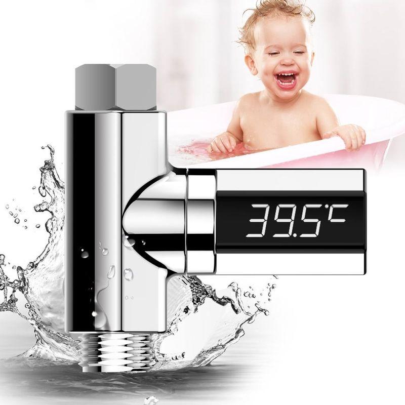 LED عرض الحنفيات دش ميزان الحرارة المياه الكهربائية المياه مراقبة المنزل الساخن الحوض الاستحمام درجة الحرارة متر لرعاية الطفل
