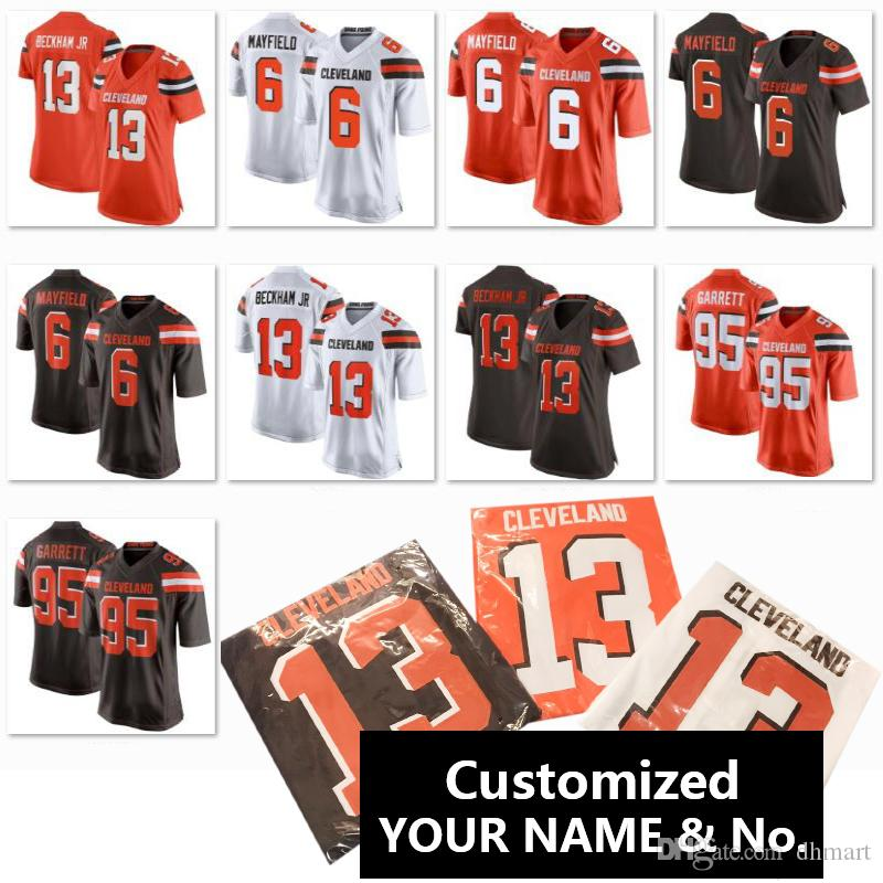 317aaa29 2019 Dropship Customized Cleveland Brown Jersey Personalized Name Number  Customs Men Women Child Baker Mayfield Football Uniform S 3XL From Dhmart,  ...