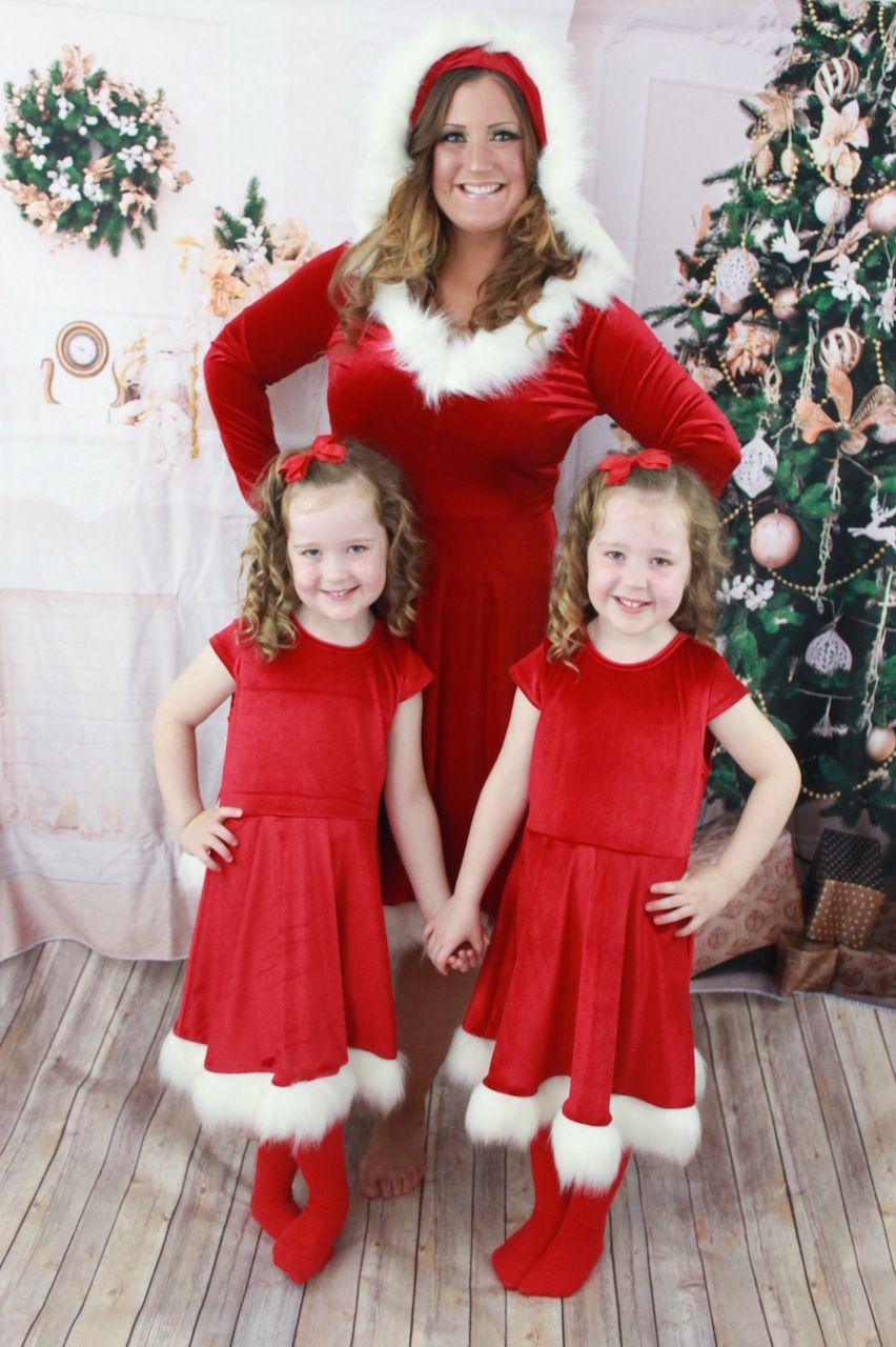 والدة ابنة فساتين عيد الميلاد الأسرة الأم والبيانات مطابقة تتسابق الأحمر رأس السنة الكريسمس أمي طفلة اللباس عائلة نظرة الملابس 2018