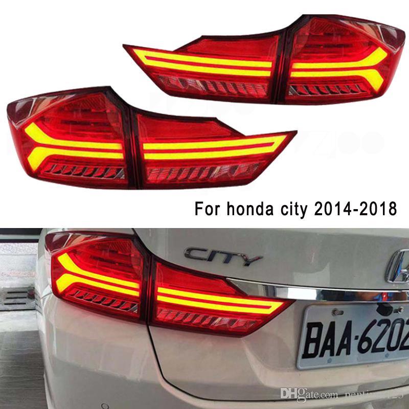 Kuyruk Lambası İçin Araç Honda ŞEHİR 2014-2019 Kuyruk Işıklar Led Sis Işıklar DRL Gündüz Işıklar Tuning Car Aksesuarları Koşu