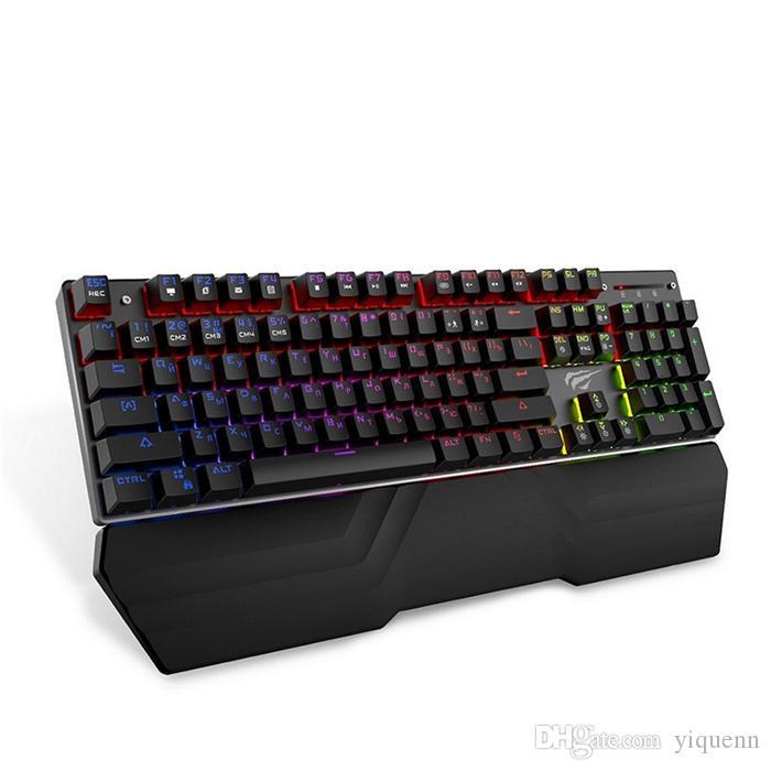 tastiera da gioco meccanica, per il tavolo tablet PC russo / blu o rosso interruttore di giochi per computer adesivo tastiera americana