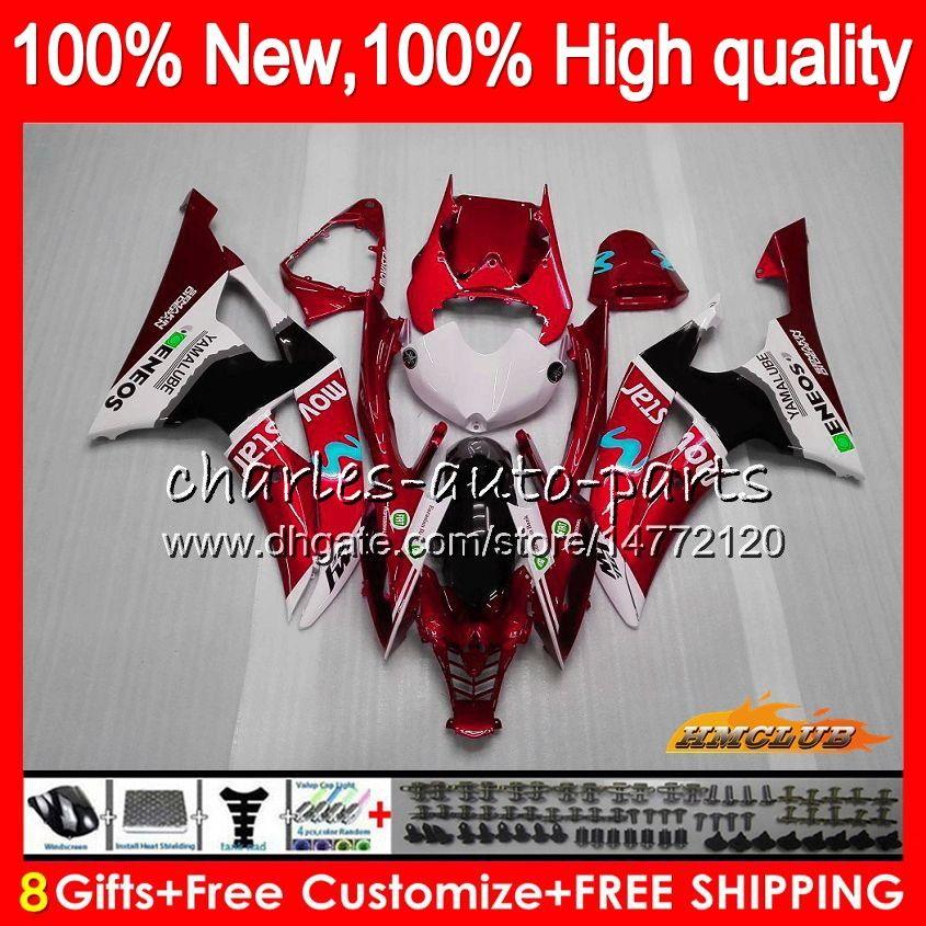 Тело Для YAMAHA YZF R6 YZF600 красного завода YZFR6 08 13 14 15 16 68NO.120 YZF 600 R 6 600cc YZF600 YZFR6 2008 2013 2014 2015 2016 Обтекатели
