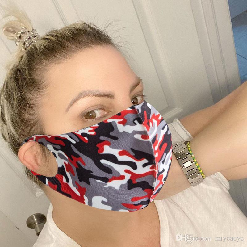 Lavable réutilisable anti-poussière Masques bouche visage camouflage éponge Masque Masque Anti froid humanisée Designer masques de luxe