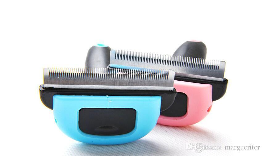DELE Pet Mane Comb Pet Hair Removal Comb Cat and Dog Comb Two Colors And Three sizes