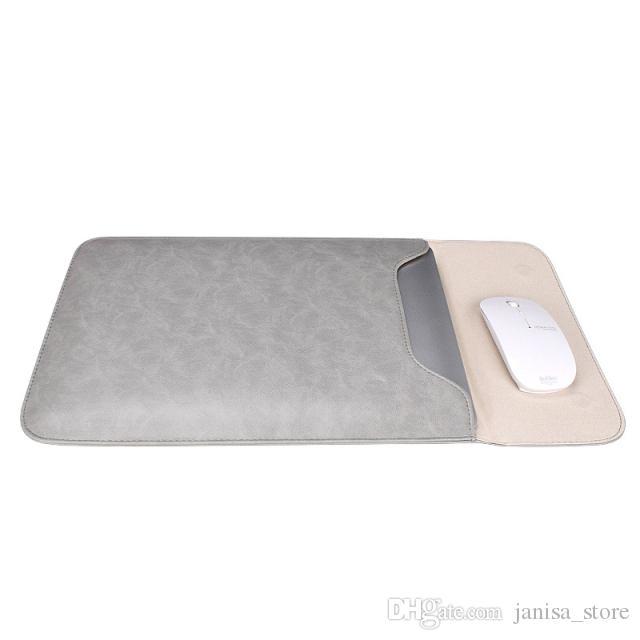 خفيفة، رقيقة للماء حماية الكمبيوتر المحمول بطانة PU حالة الجلد لأبل ماك بوك هواوي الموالية XIAOMI 13 14 15 بوصة مخصصة LOGO