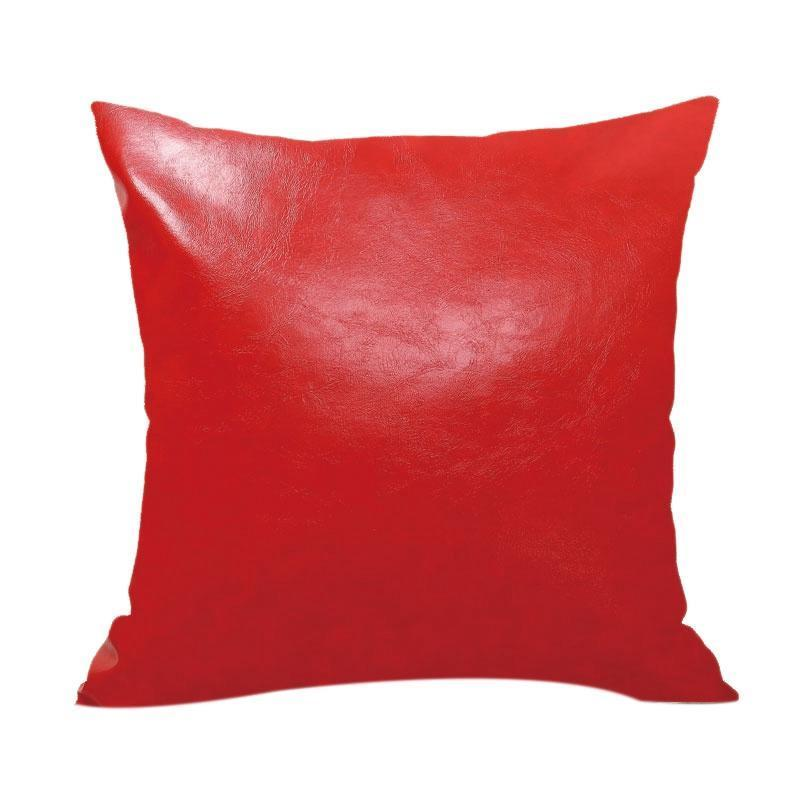 Pillow Case Crazy Horse Oil Leather Case Cortex Sofa Decorative Cushion Cover For Home Decor 45X45Cm