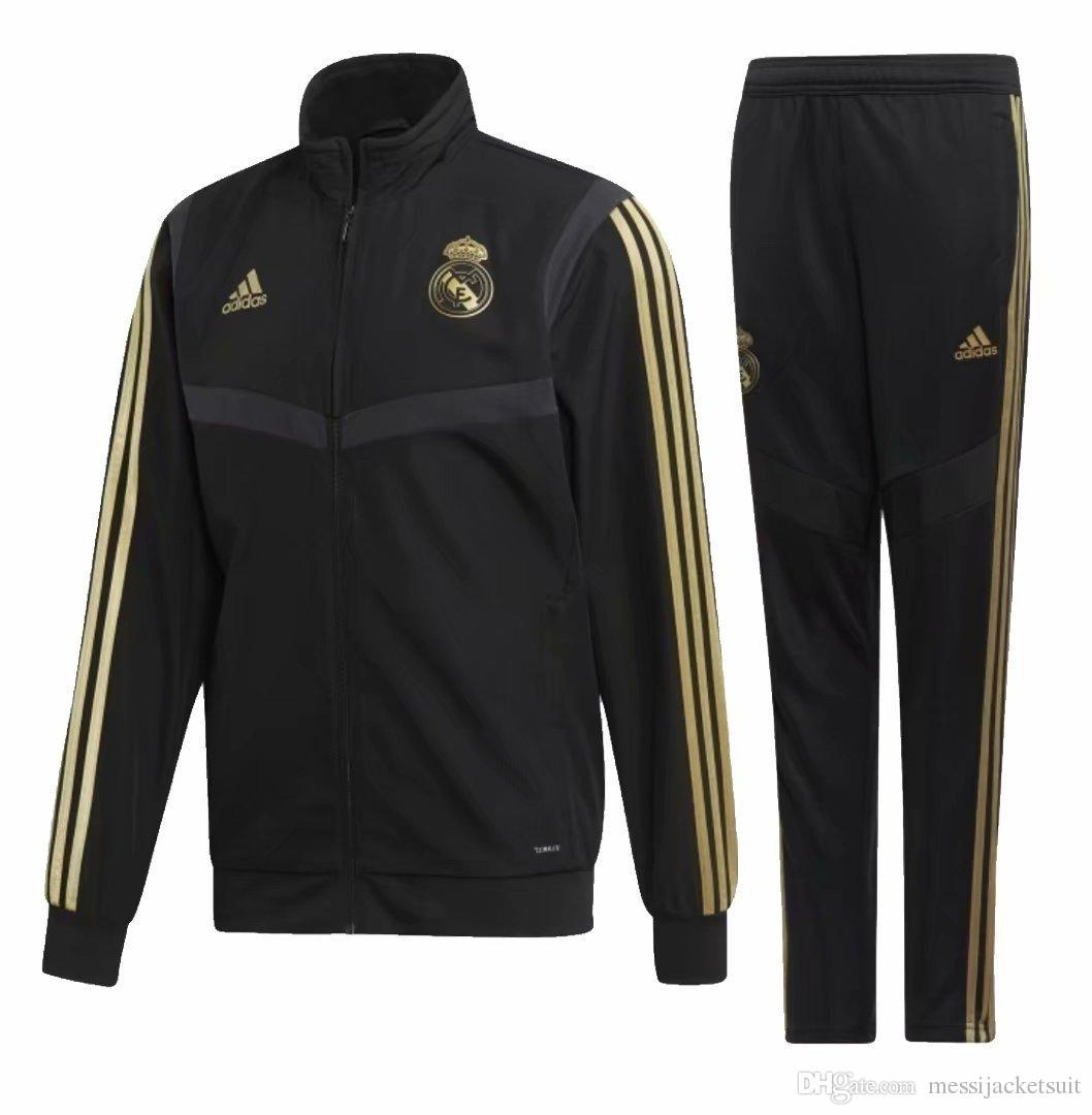 19 20 new season Real Madrid jacket tracksuit HAZARD soccer jogging jacket Isco MODRIC Madrid Football jacket kit Training suit