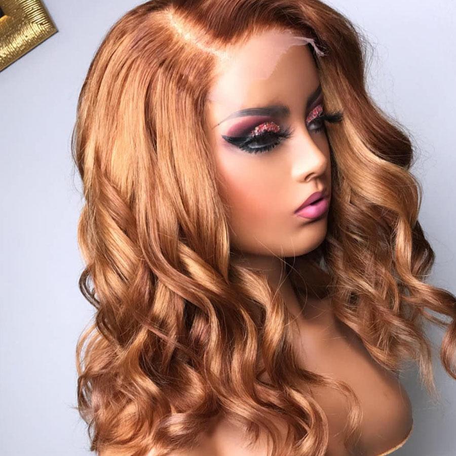 Индийский Glueless 13x6 кружева фронт человеческих волос парики с волосами младенца Свободная волна блондинка полный парик шнурка 360 кружева фронтальный парик для женщин