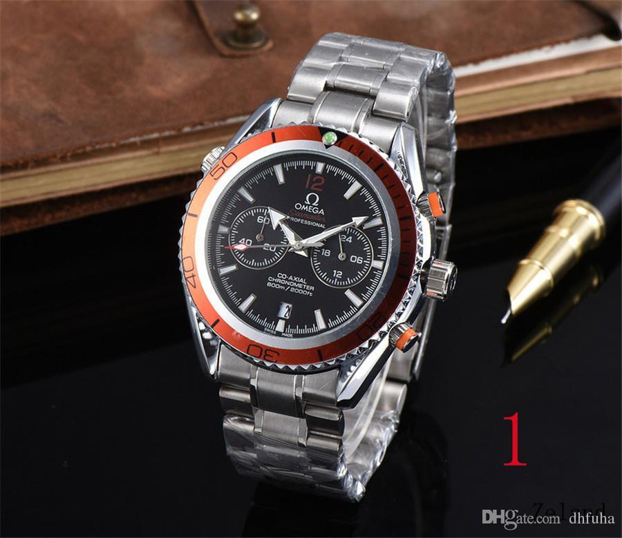 Ünlü Logo Erkekler Ve Kadın Moda Simple Saatler Vogue Katlama Çelik Kemer Chronograph Watch Kuvars Saatler Zamanlama Marka Orjinal İki Gözler
