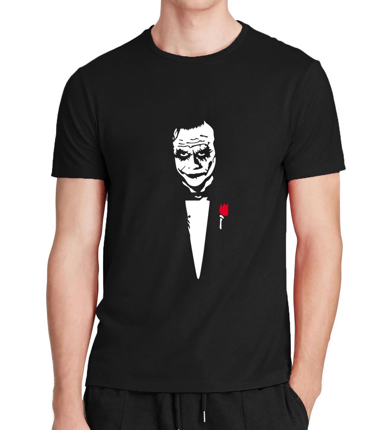 Joker Baba Camisa Masculina T-shirt Erkekler Tops 2017 Yaz Yeni Joker Heath Ledger Neden Bu Kadar Ciddi T Shirt Erkekler Pamuk Gömlek