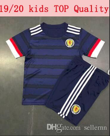 Großhandel Europa Schottland 20 21 Schottland Kinder Installationssatz-Fußball Jersey 2020 Schottland Heimtrikot Shankland 14 Kinder Kit Fußballhemd