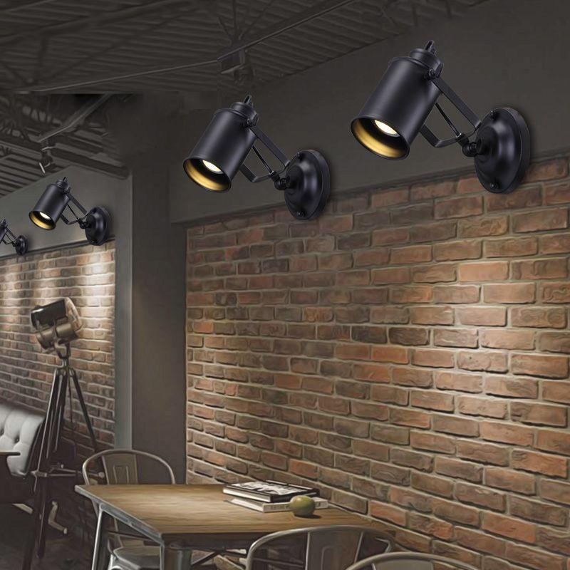 Lightess Applique Da Parete Interni Regolabile Lampada A Muro Applique E27 Stile Vintage Retro In Metallo Per Decorazione Soggiorno Cucina Camera Da Letto Illuminazione Illuminazione Per Interni
