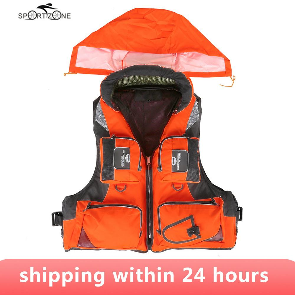 ports & Entertainment L-XXL Men Women Fishing Life Vest Outdoor Water Sports Safety Life Jacket For Boat Drifting Survival Swimwear Colet...