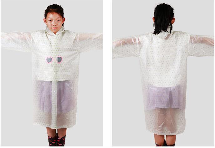 2017 studenti creativi ragazzi e ragazze siamesi impermeabili Del Fumetto di modo Pioggia Poncho modello trekking cappotto di pioggia