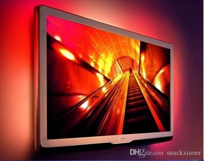 USB RGB Color Change 5050 Faixa de LED TV lâmpada Computer USB Backlight Luz Kit Tela TV LCD PC Desktop 2 x 60cm + 2 40 centímetros *