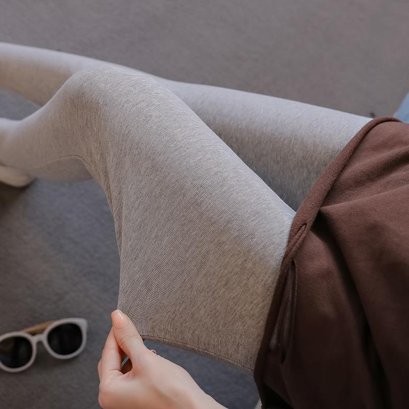 LTjXw VtyqP 2020 вскользь Новая вязаная трикотажная удобный живота поддержки Осень новых поножи Узкие брюки 2020 беременных женщин тугой р