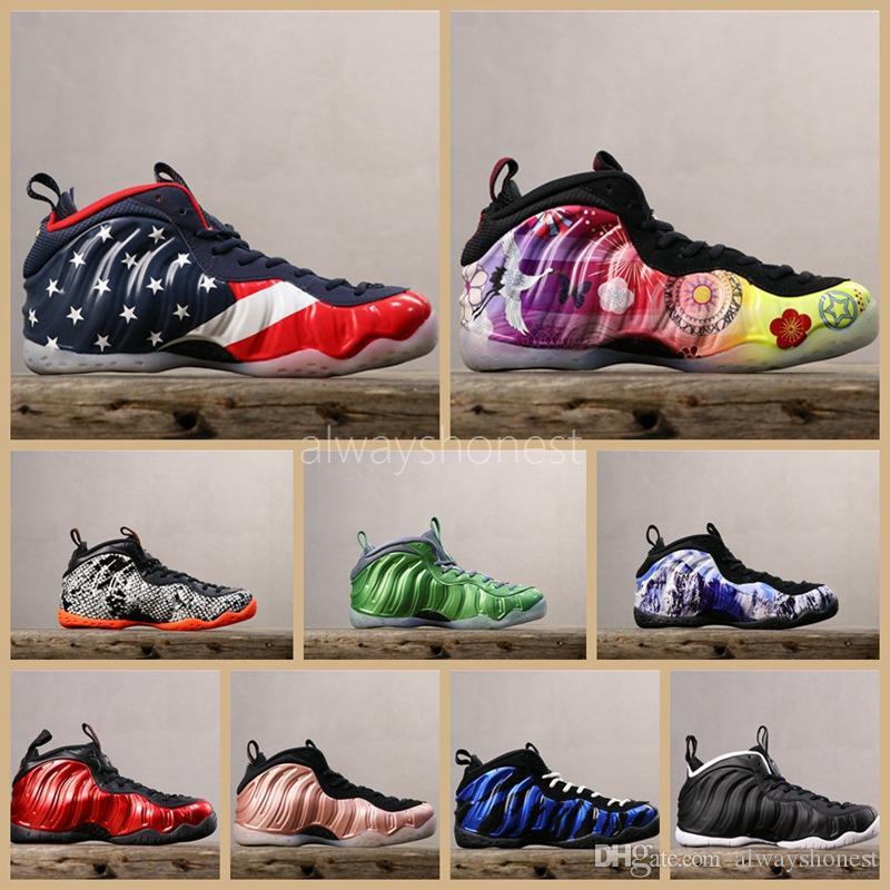 Vandalized USA Schaum ein Penny Hardaway Herren-Basketball-Schuhe Paranorman Doernbecher Lila Camo Alternate Galaxy Männer Sport-Turnschuhe 7-13