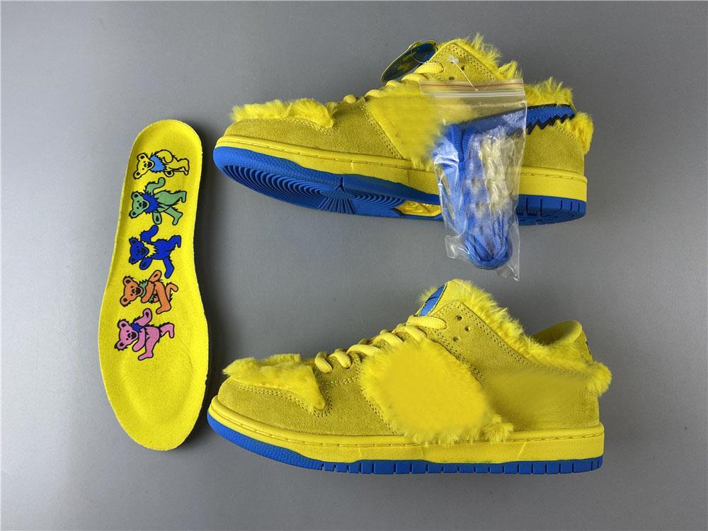 Yeni Minnettar Ölü Mavi Fury Derin Kraliyet Moda Kaykay Sneakers İyi Kalite CJ5378-700 Come SB Dunk Düşük Sarı Ayı Tasarımcı Ayakkabı x