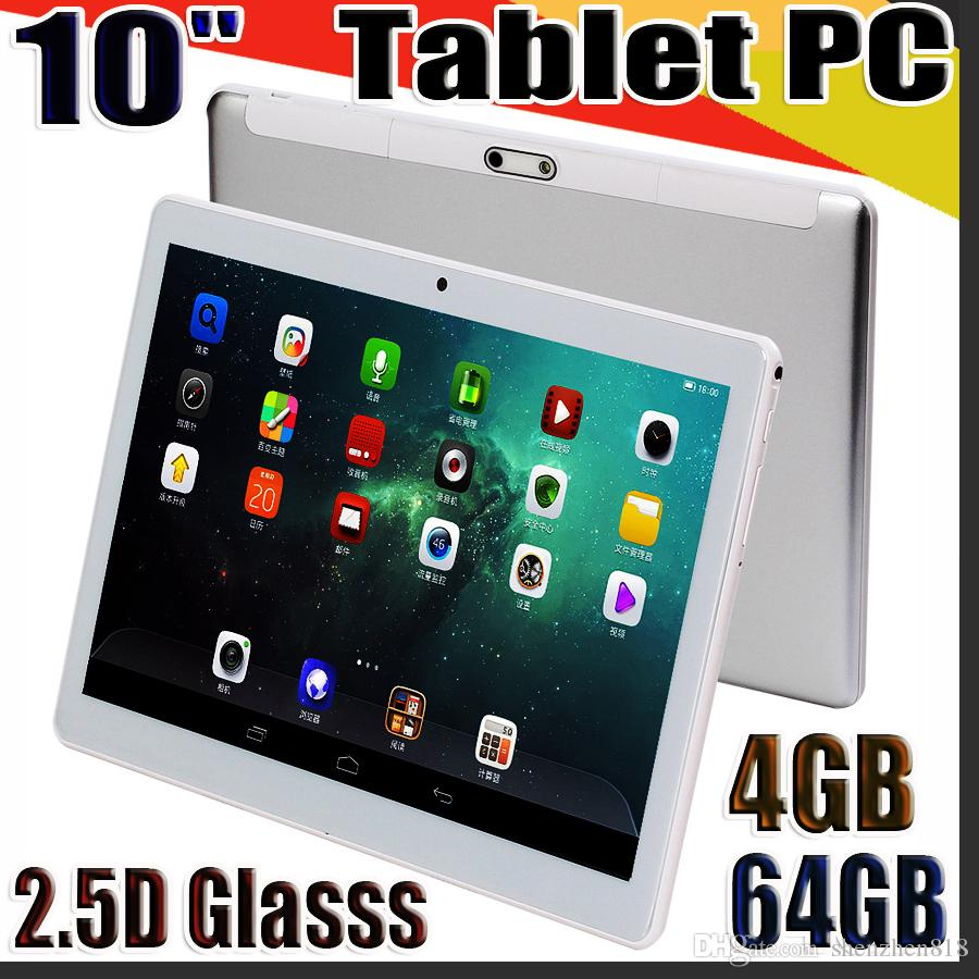 """818 High quality 10 inch MTK6580 2.5D glasss IPS capacitive touch screen dual sim 3G GPS tablet pc 10"""" android 6.0 Octa Core 4GB 64GB G-10PB"""