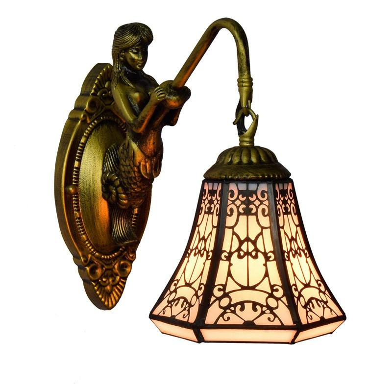 parede de vidro estilo árabe parede cabeça barra da lâmpada sala de jantar quarto corredor varanda lâmpada de parede único estilo Tiffany ilumina TF049