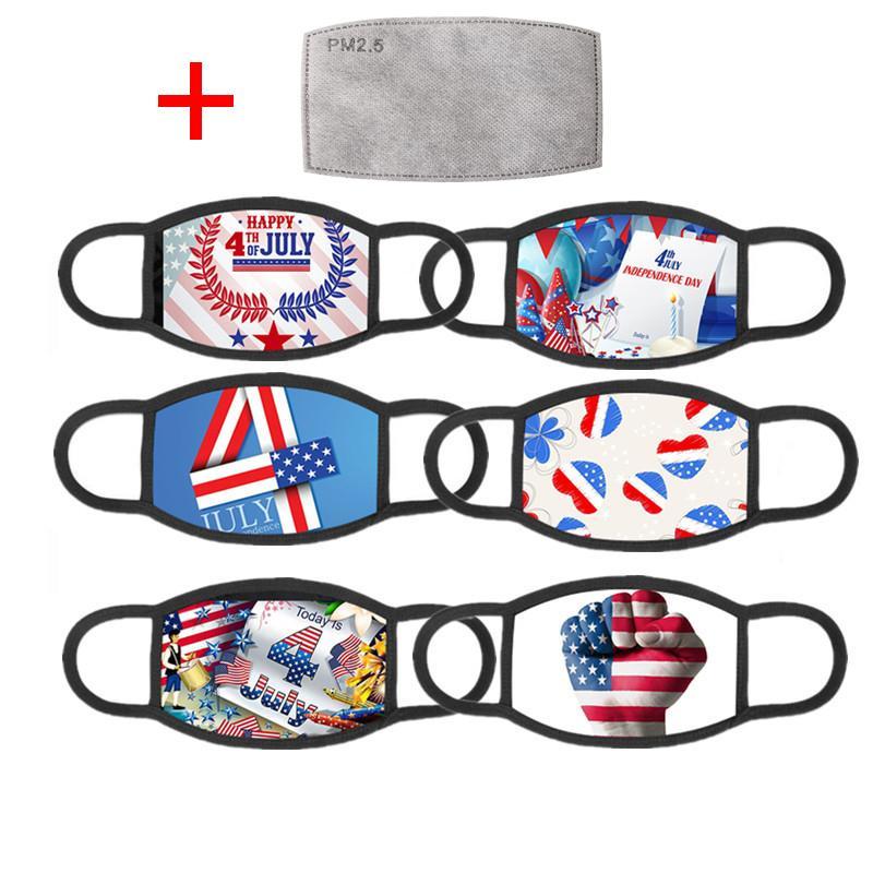 ترامب 2020 أمريكا الانتخابات لوازم قناع الوجه أقنعة الموضة الولايات العلم يوم الاستقلال الطباعة قابل للغسل قابلة لإعادة الاستخدام مع تصفية 1 PM2.5