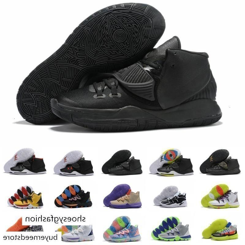 2019 Yeni Kyrie6 6s Üçlü Siyah Altın Kırmızı Erkek Basketbol Ayakkabı Yüksek kaliteli Irving 5 Kyrie 6 Graffiti Erkekler Spor Sneakers Boyut 40-46
