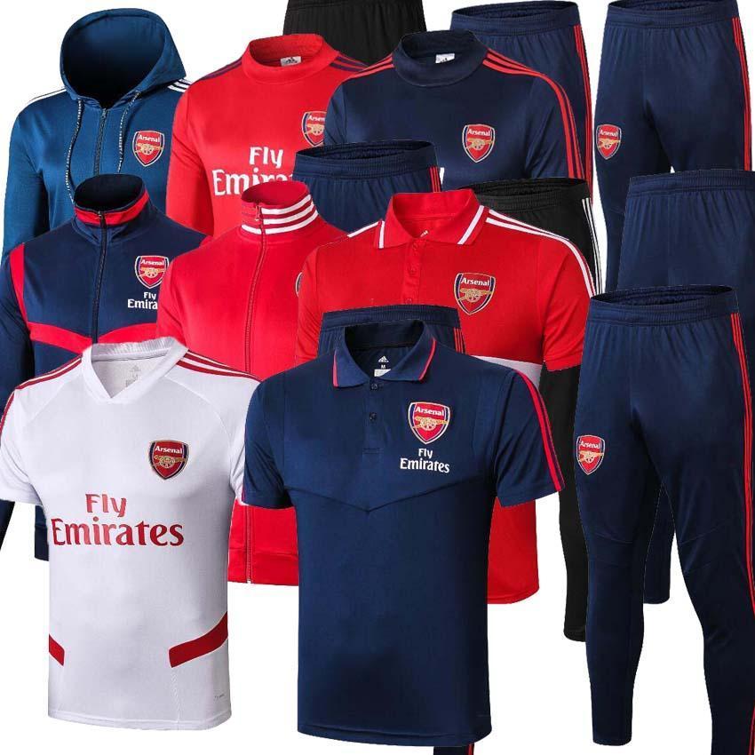 2019 2020 Arsen pepe Soccer giacca tuta 19 20 di alta qualità da jogging impostato Arsen NICOLAS PEPE TIERNEY giacca calcio tuta CHANDAL