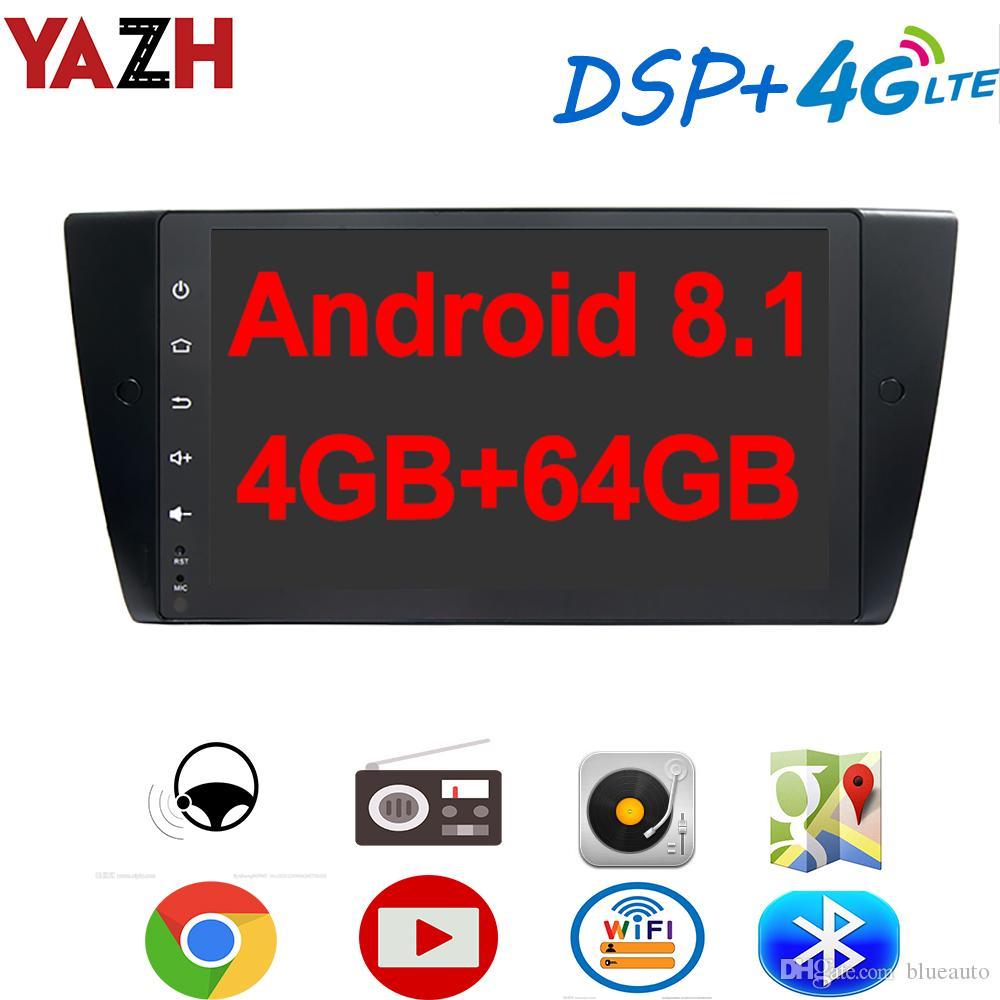 YAZH 9.0 IPS سيارة دي في دي الوسائط المتعددة وحدة لBMW 3 / BMW E90 2005-2012 مع الروبوت 8.1 راديو العرض بلوتوث 5.0 4G SIM بطاقة DSP SWC