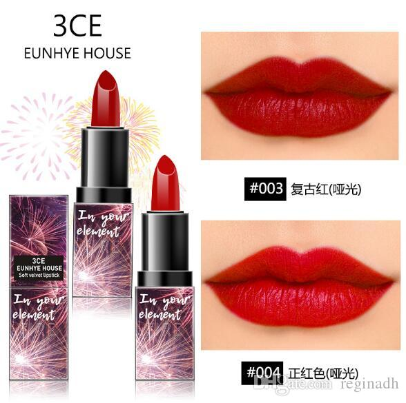 HOT SELL 3CE Eunhye House Makeup Lipstick Matte Moisturizing Non-stick Cup Lipstick Makeup lip gloss Cosmetic