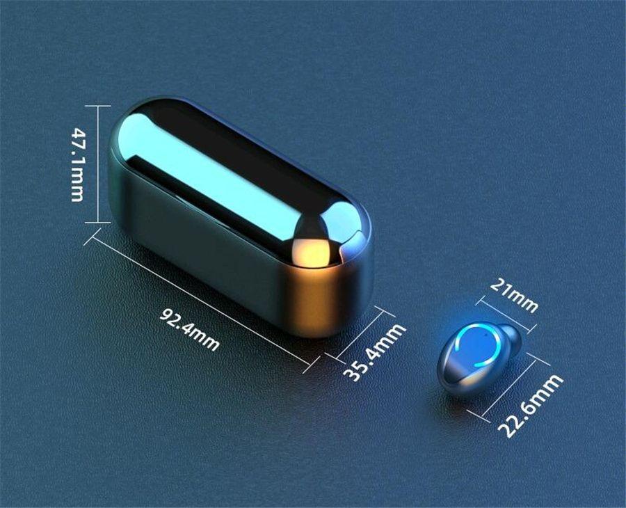 50 1 piezas Novedades colorido TW70 TWS inalámbrica Bluetooth 5.0 para auriculares Sport con verdadera auricular estéreo para teléfonos inteligentes PK i12 inpods12 # OU232