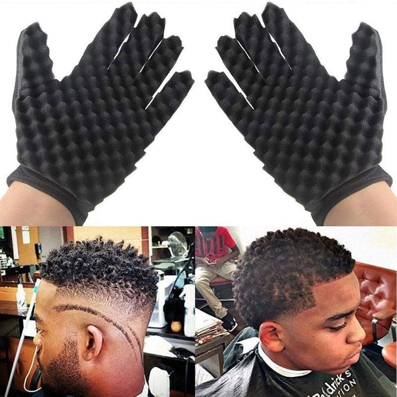 Магия локон волос губка перчатки для парикмахеров волна твист кисти Перчатки укладка инструмент для вьющихся волос Укладка уход высокое качество