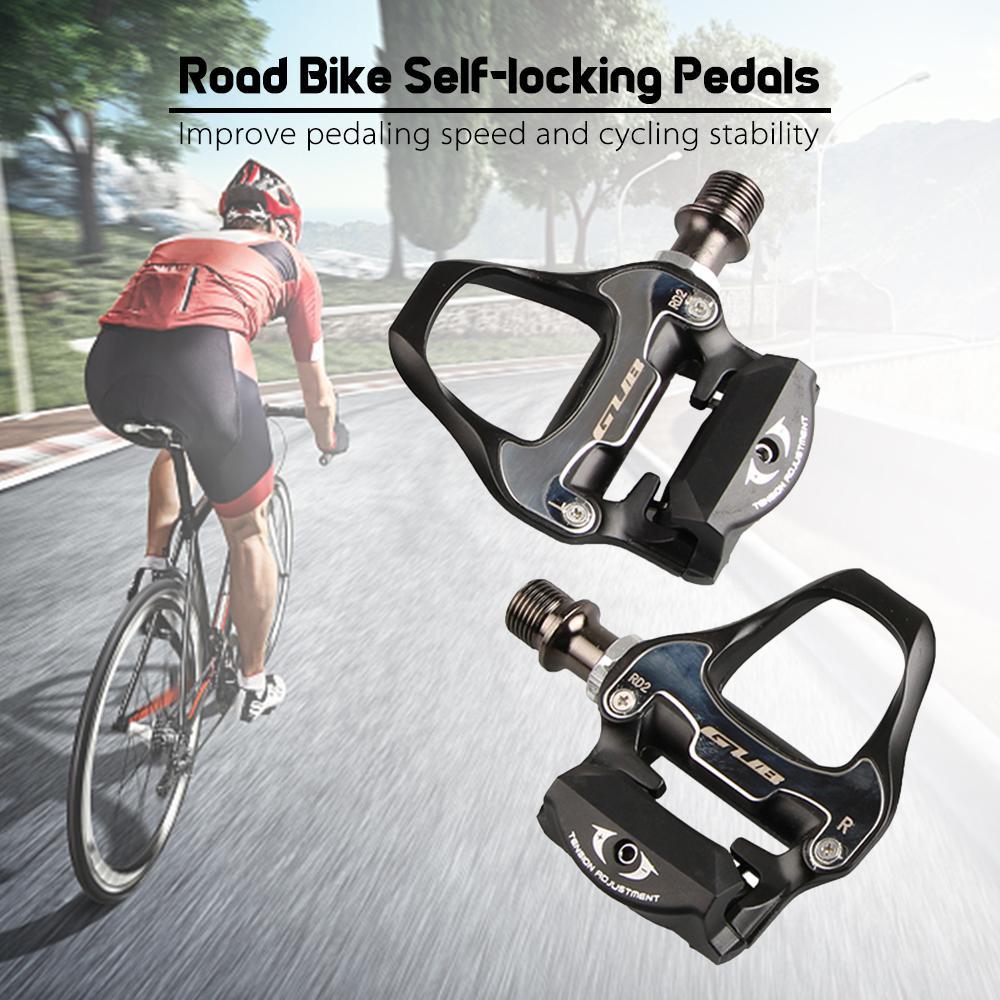 GUB RD2 autobloccante Pedale Mountain Road Bike Locks Pedali MTB alluminio Parti di biciclette Biciclette