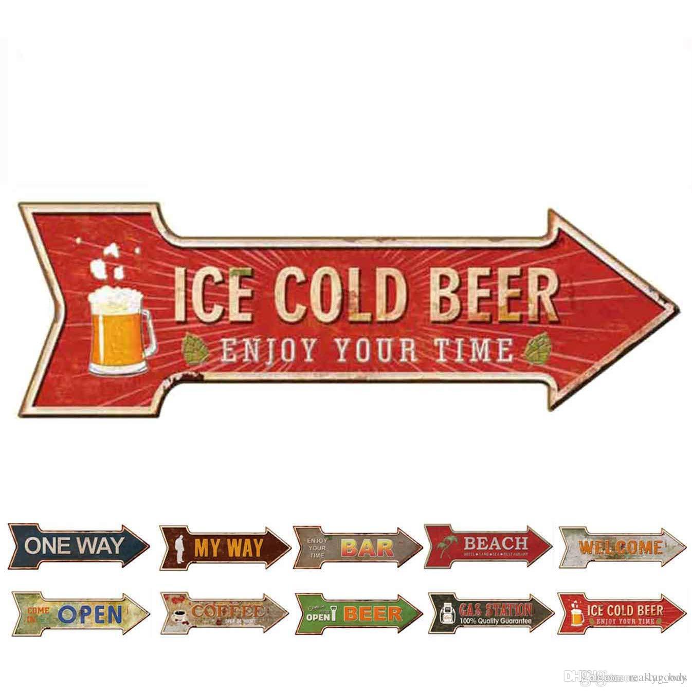 Red Top Beer Logo Retro Vintage Bar Man Cave Garage Wall Decor Metal Tin Sign