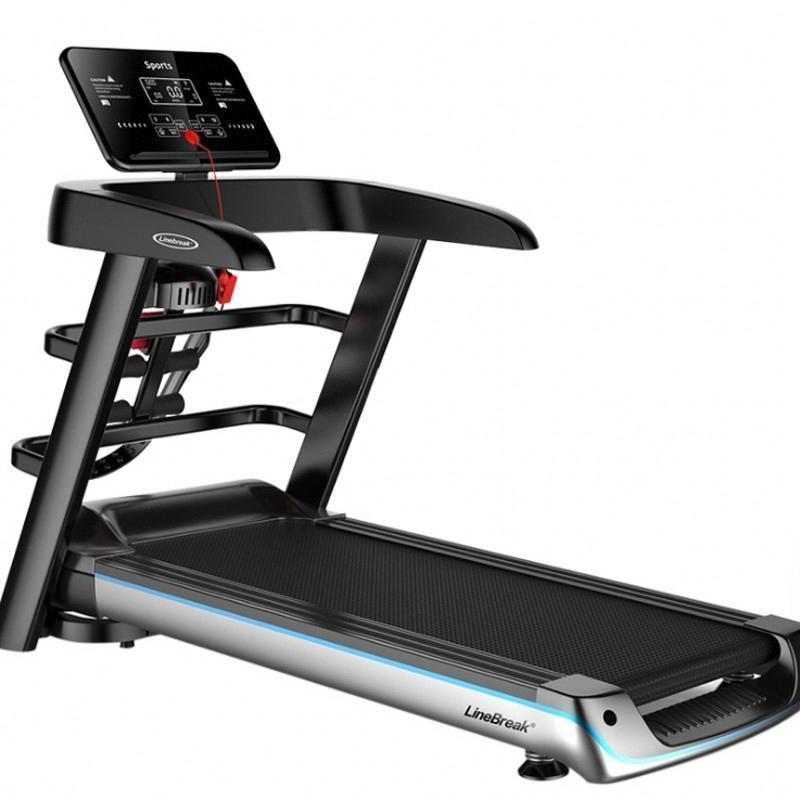 2020 neuer Folding-Farbbildschirm Elektrische Tretmühle Multifunktionale Trainingsgeräte Lauftraining Indoor Sport für Haus Treadmillsc98a #