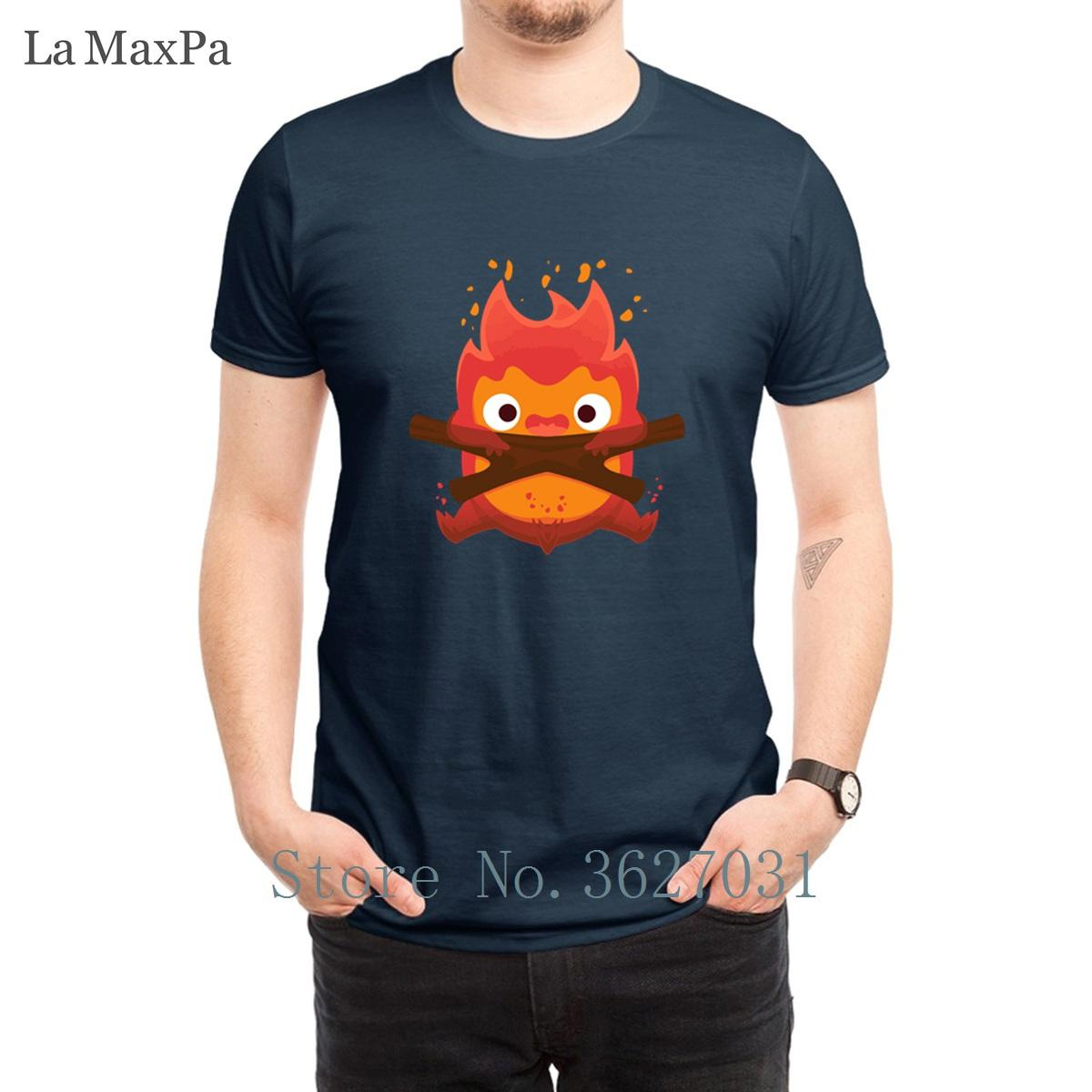 Заказные Досуг Футболки мужские The Fire Demon T Shirt Fun Spring Tee Shirt For Mens Nice Plus Размер Menss Tee Top