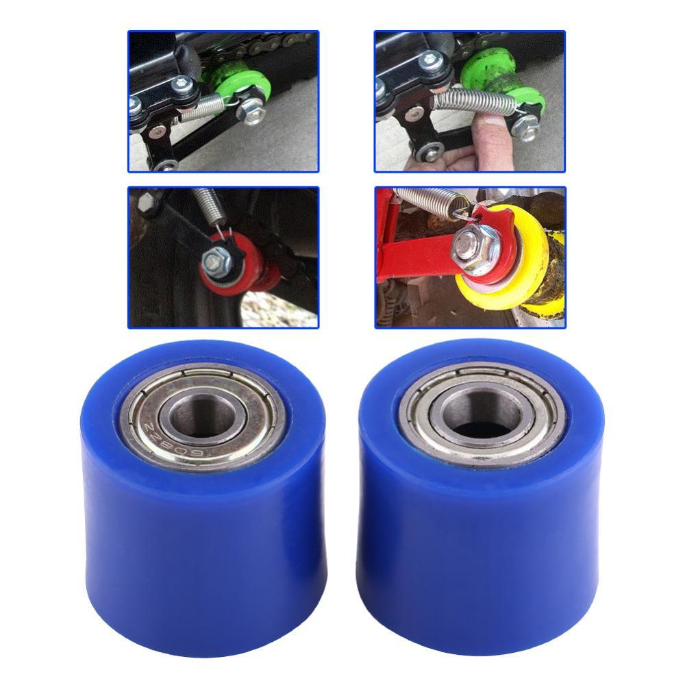 "8mm//10mm Chain Roller Slider Tensioner Wheel Guide 1.1""x 1.26"" For Pit Dirt"