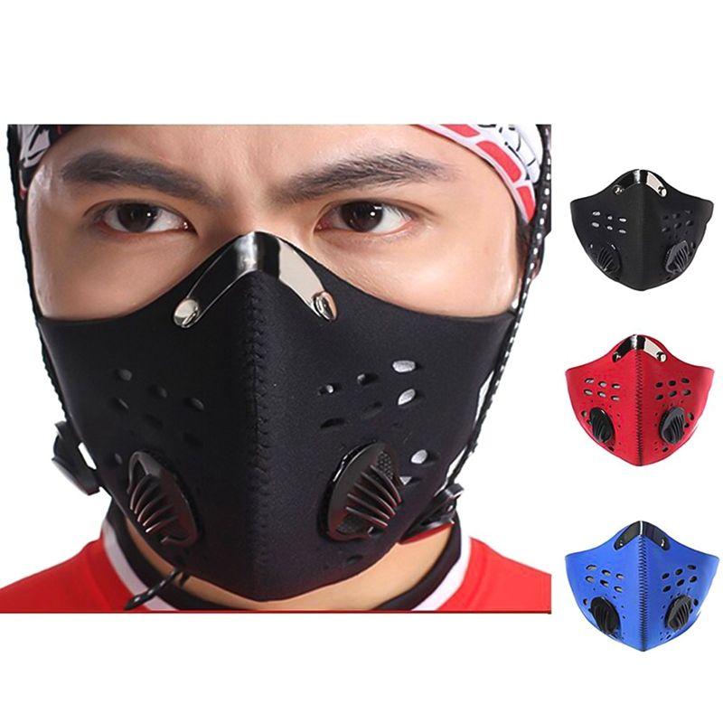 6 pcs Antipolvo PM2.5 Reutilizable y Lavable para Ni/ños Tela de Escape de Media Cara para Ciclismo al Aire Libre con Bolsillo para Filtro