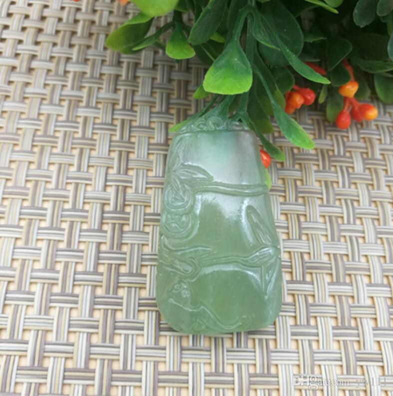 Jade ghiaccio Tipo giada ciondolo di bambù giada all'ingrosso di alta gioielli ciondolo di salita